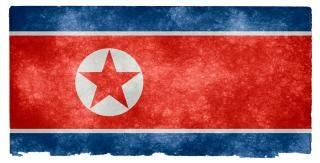 North korea grunge flag  paper