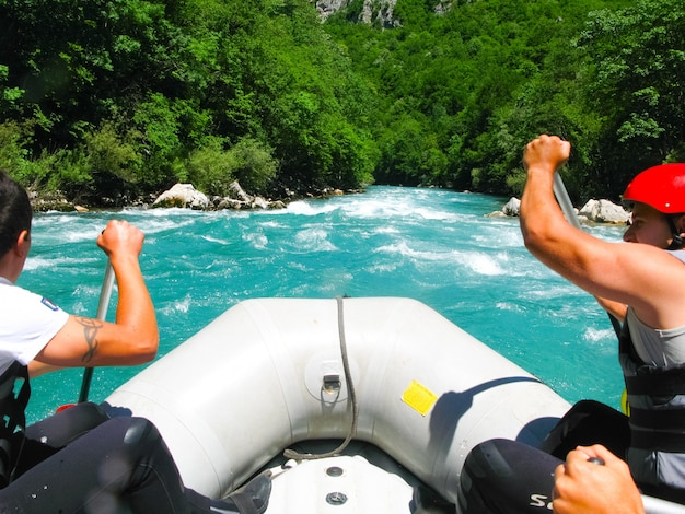 In the north of montenegro passed competitions on rafting. the competition was attended by representatives of different countries.