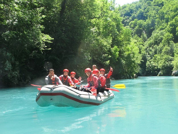 In the north of montenegro passed competitions on rafting.
