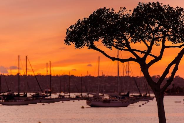 North san diego bay sunset