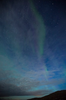 Northern lights in nordkapp, northern norway. europe.