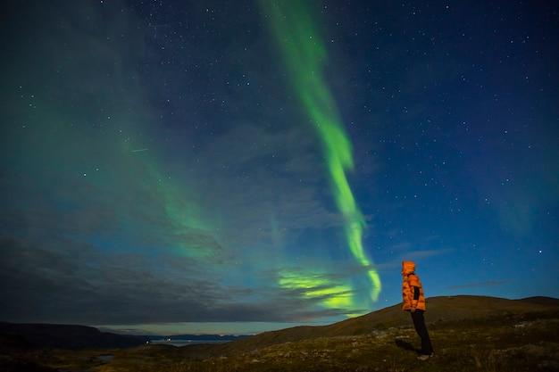 Northern lights in nordkapp, northern norway