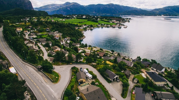 Norway, the city view from the air