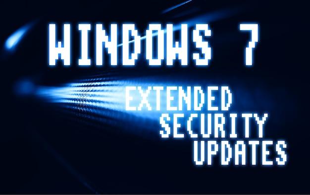 ノルウェー、オスロ、2020年1月11日:windows 7 esu