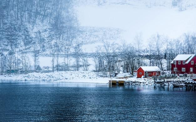 Norwegian fjords in winter