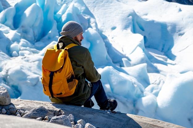 Norwegian glaciers tourist