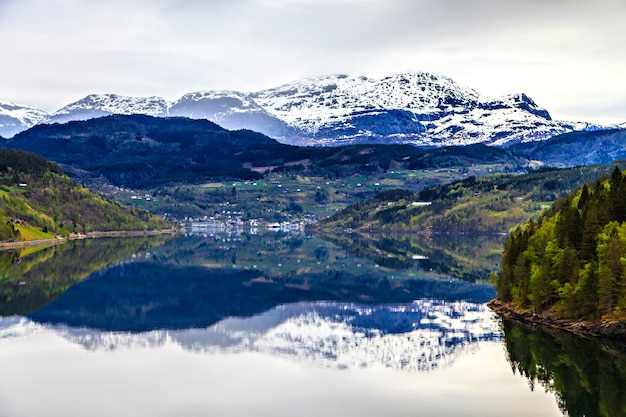 Norwegian landscape: the north sea and fjord
