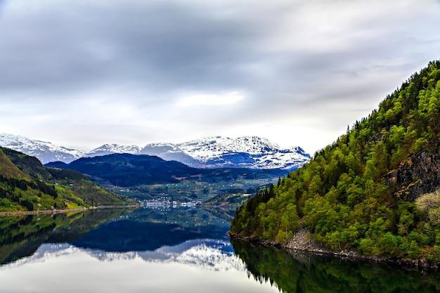ノルウェーの風景:北海とフィヨルド