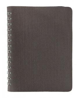 Примечание обложка книги, изолированных на белом с обтравочный контур