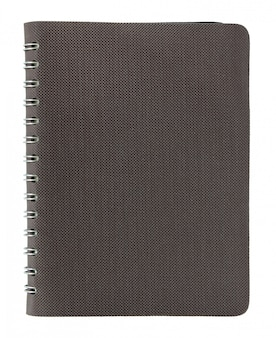 Note book cover isolated on white with clipping path