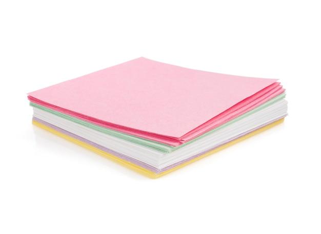 白い背景で隔離のメモ用紙