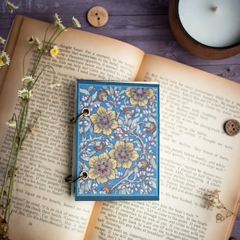 Notebook in art nouveau style