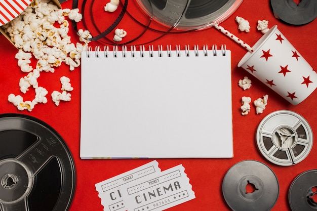 Notebook and cinema equipment