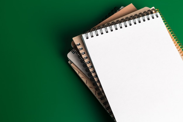Notebook on green