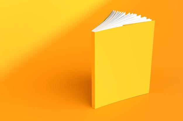 ノートブックモックアップ空白の表紙本3dレンダリングイラスト日記顔側面図スケッチパッドテンプレート