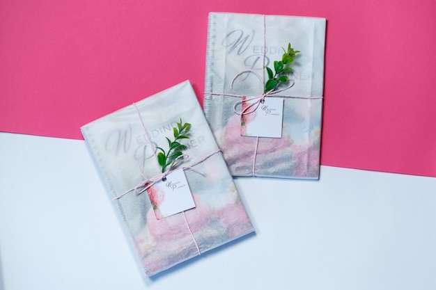 Notebook for notes for future newlyweds. wedding notebook for the bride