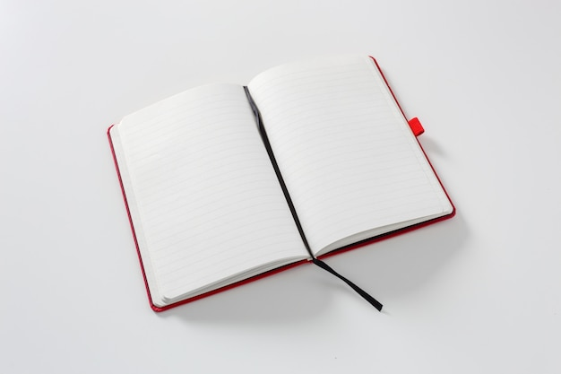 Notebook on white