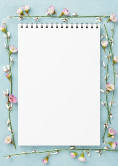 Notebook with branches of flowers