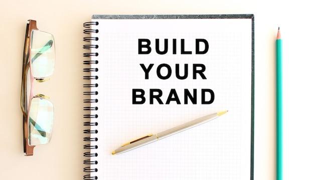 Блокнот с сообщением вашего бренда