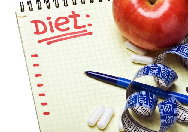 Блокнот с планом диеты
