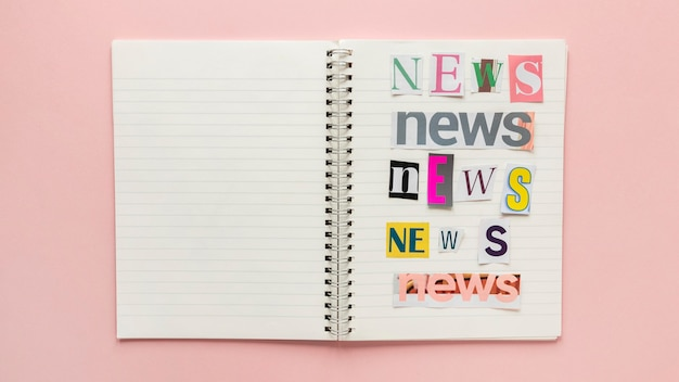 Notebook with fake news