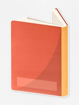 Notebook with orange cover icon
