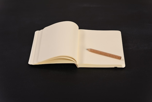 テキスト用のスペースのあるノートブック