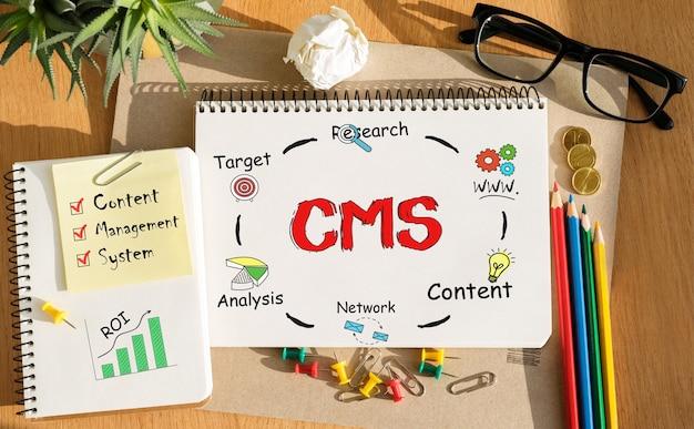 ツールとcms、コンセプトに関するメモを含むノートブック