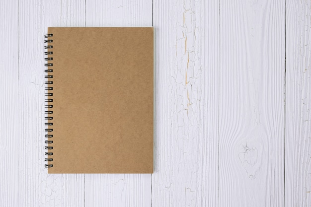 Notebook on wood