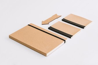 Notebooks near arrow