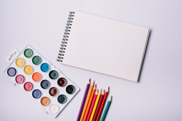 Notepad cover template with artist concept