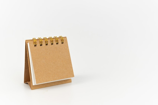Notepad ojbect on white background. education or message concept.