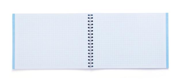 Блокнот или блокнот, изолированные на белом фоне, вид сверху