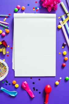 Notepad and party stuff