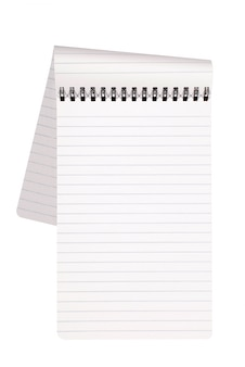 Notepad with folded page