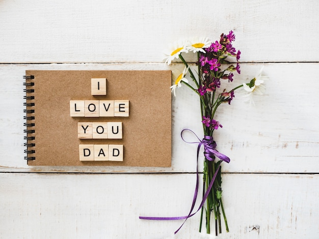 Notepad with the word dad