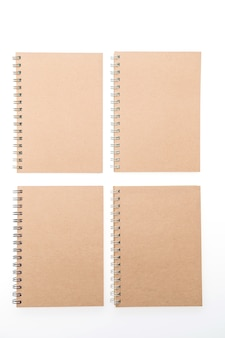 Notepads placed in a square