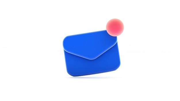 Уведомление о новом электронном письме синий символ