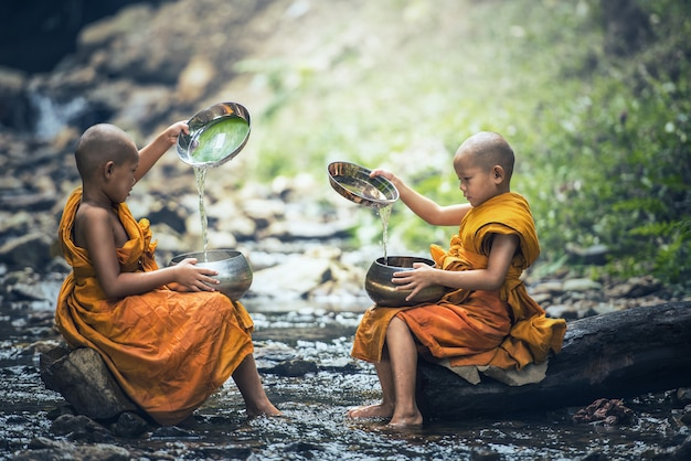 Novice monk in thailand