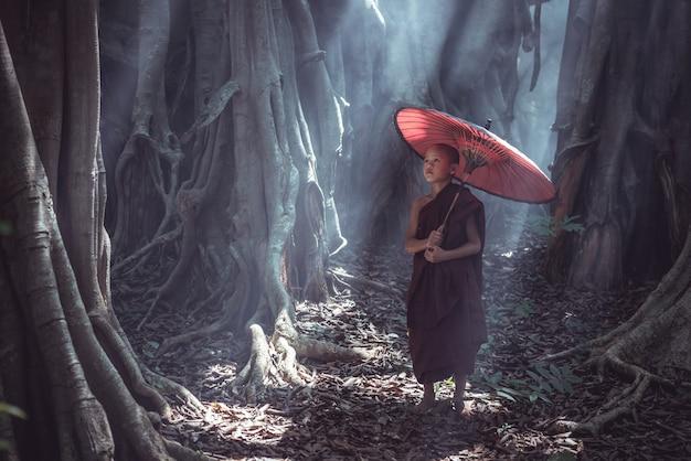 Novice monks in myanmar
