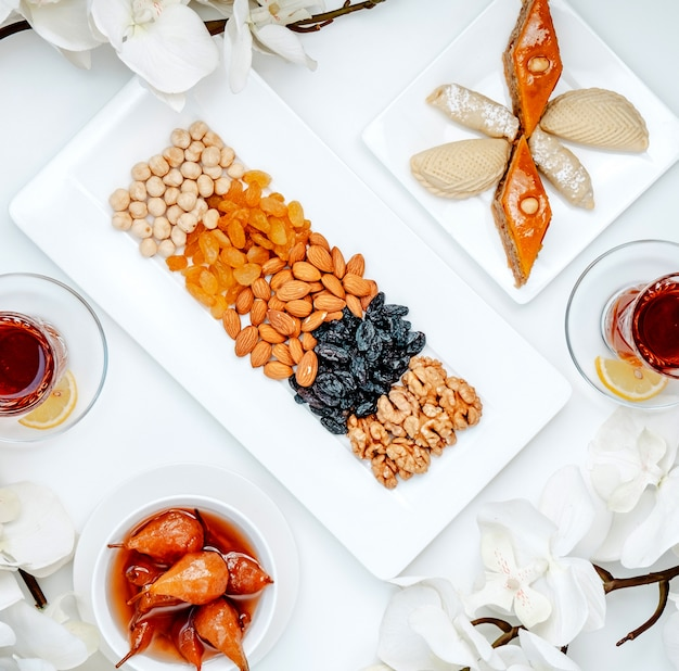Novruz bayram set on the table