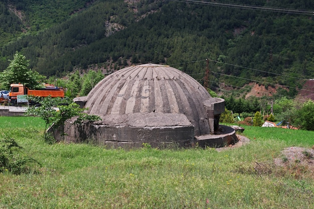 The nuclear bunker in albania mountains