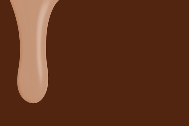 Nude dripping paint background in brown