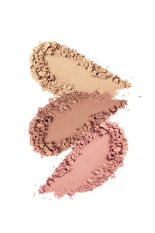 Nude face powder blush swatch isolated on white