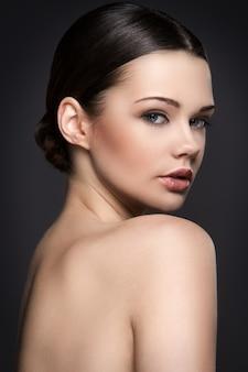 Nude woman portrait for skincare concept