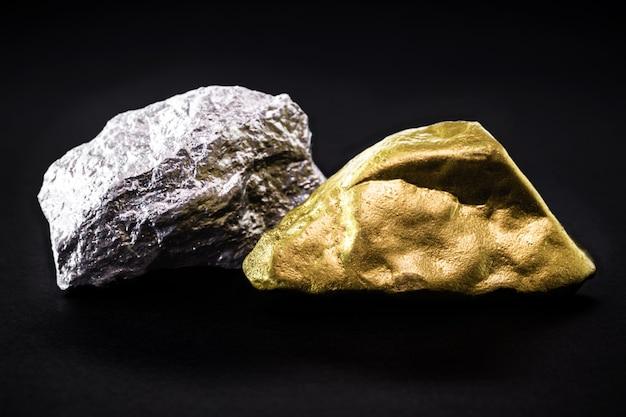 금과 석재의 너겟, 희귀 보석의 개념