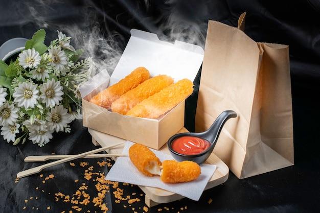 Nuggets, golden fried food, stuffed inside