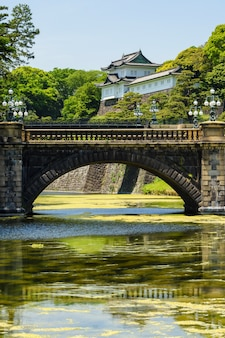 Мост наджибаши и императорский дворец, токио