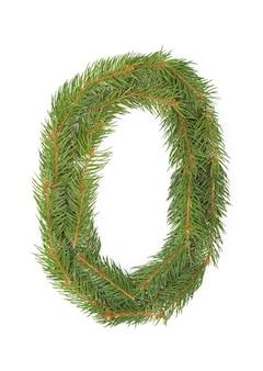 Номер 0 - новогодняя елка на белом пространстве