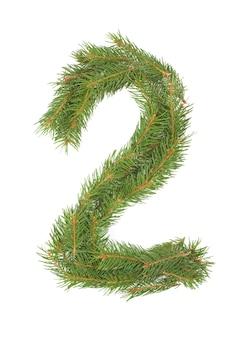 番号2-白いスペースにクリスマスのモミの木で作られました